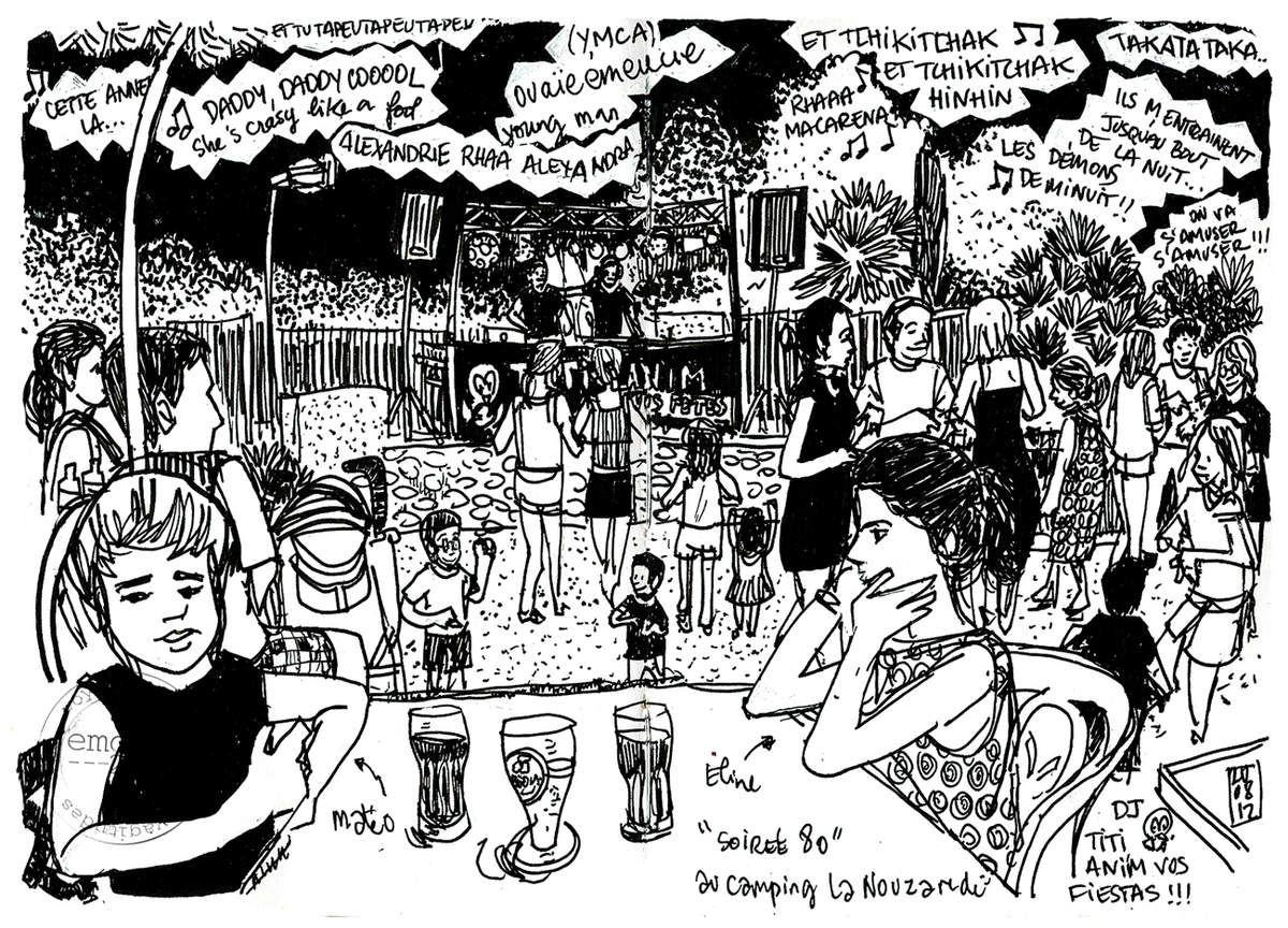 Croquis de balade à Joyeuse // emdé, 2012