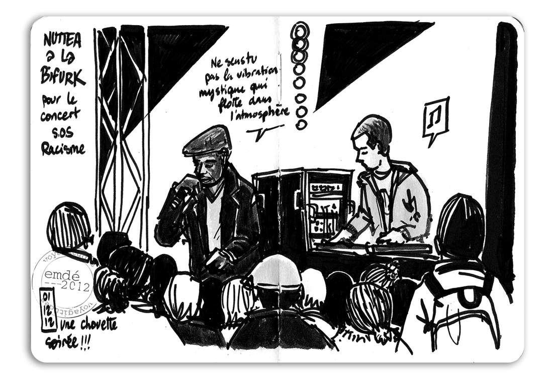 Soirée SOS Racisme - La Bifurk // emdé, 2012