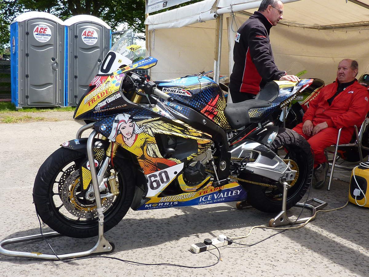 La BMW de Peter Hickman sous les couleurs Ice Valley/Paul Shoesmith au TT 2015