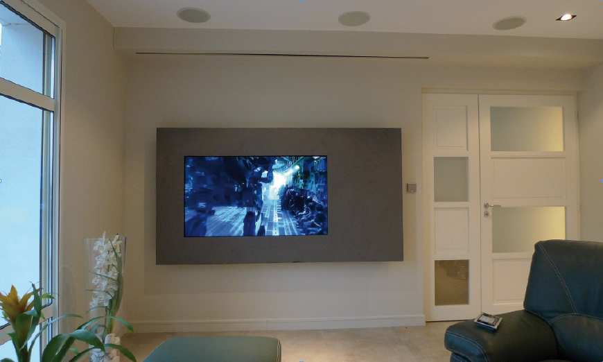 installation home cinema plafond images. Black Bedroom Furniture Sets. Home Design Ideas