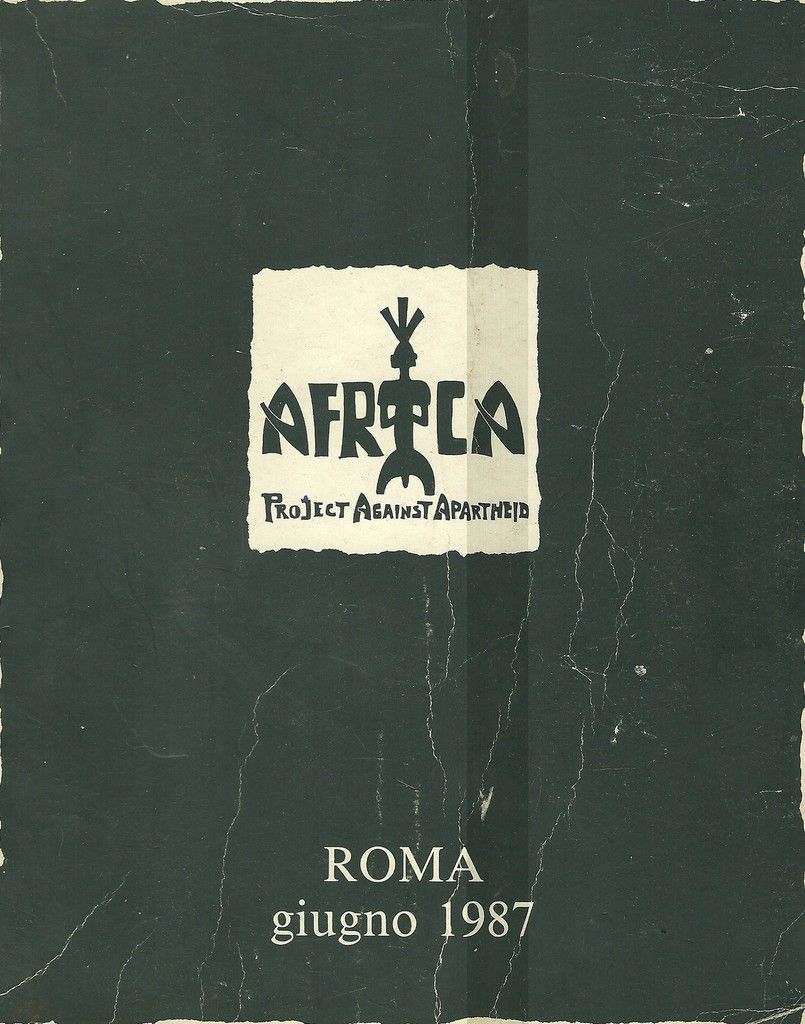 AFRICA PROJECT AGAINST APARTHEID ROMA 1987