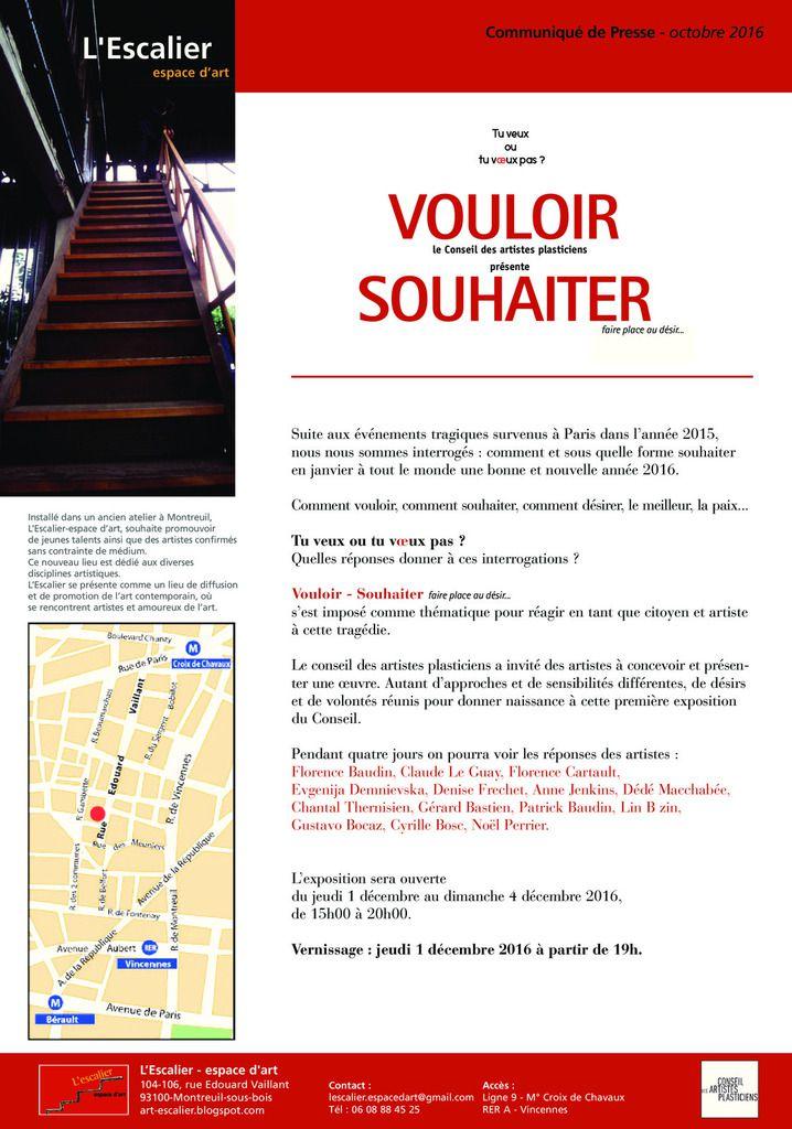 EXPO: VOULOIR SOUHAITER - L'ESCALIER/ESPACE D'ART
