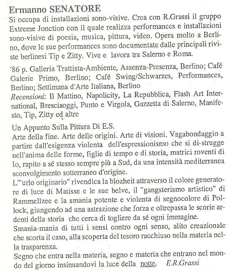 GENAZZANO'86 INTERVENTO SU CATALOGO E.R.Grassi
