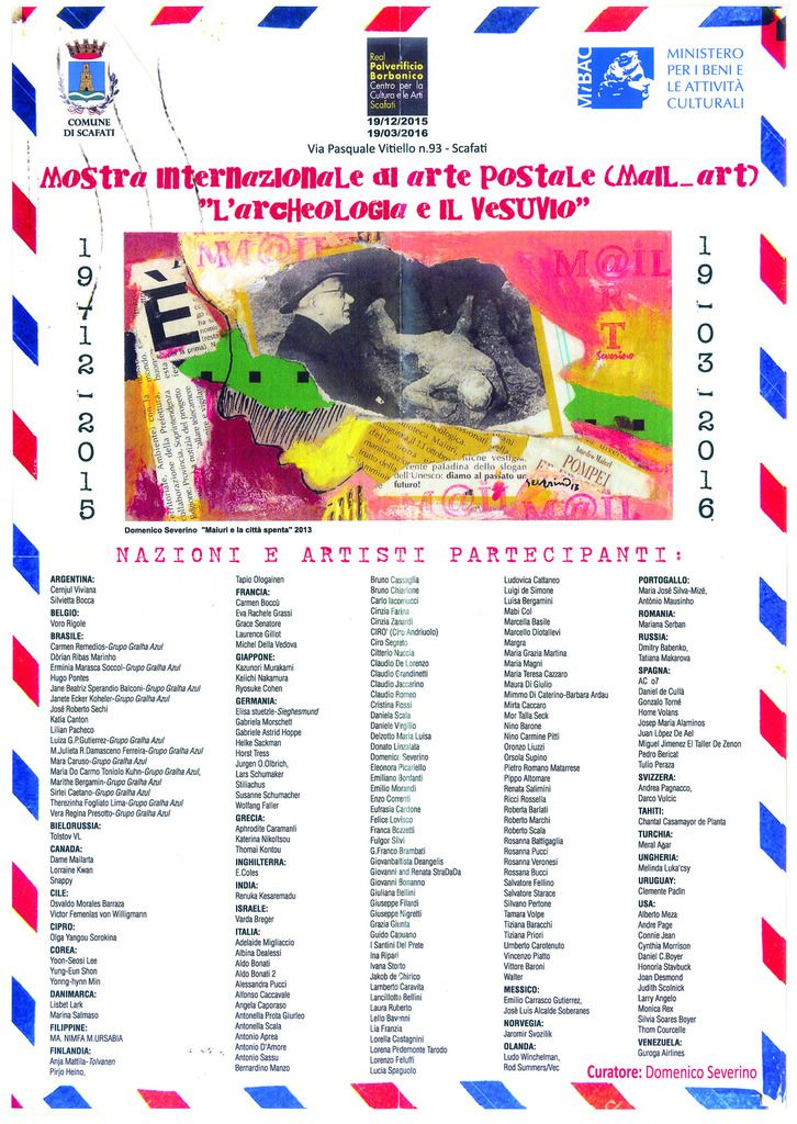 AFFICHE MAIL ART INTERNATIONALE POMPEI