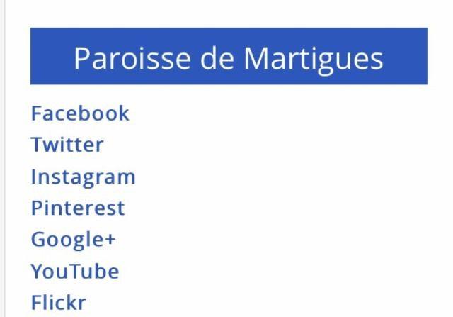 LA PAROISSE DE MARTIGUES SUR LES RESEAUX SOCIAUX