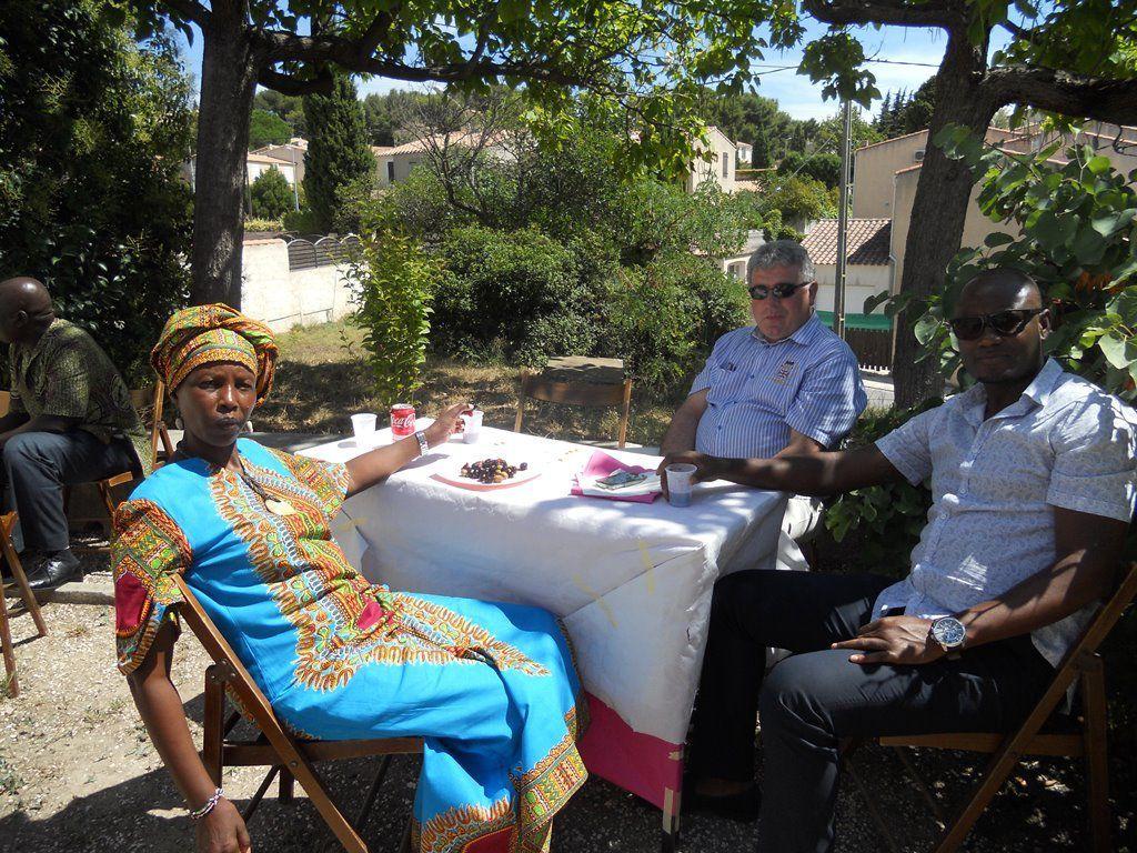 La communauté sénégalaise de Martigues était en fête le jour de l'Assomption pour le baptême d'Elisabeth.