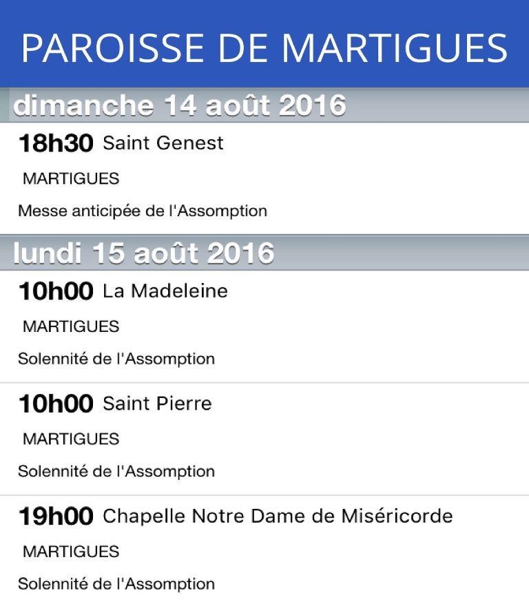 Attention ! Pas de messe dimanche 14 août à Notre Dame de Miséricorde.