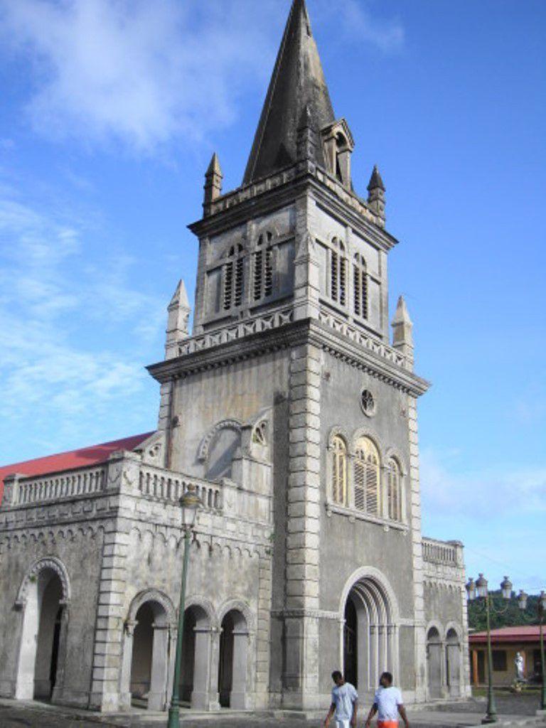 L'église paroissiale du Morne-Rouge (Martinique), où Notre-Dame de la Délivrande est vénérée.