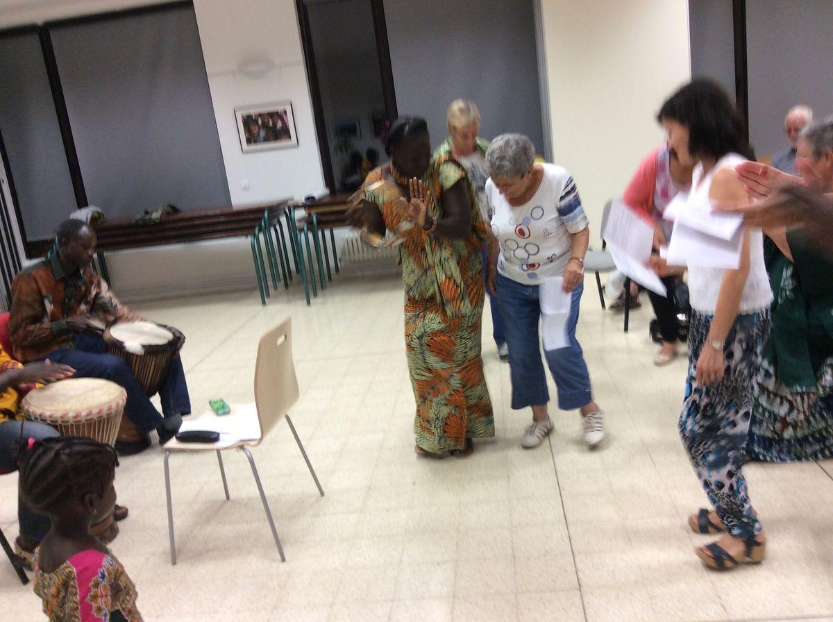 Dans le cadre du Festival de l'Annonciade, des martégaux se sont formés au chant et à la danse sénégalais.