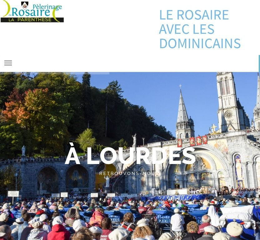 LE PELERINAGE DU ROSAIRE EN DIRECT ICI
