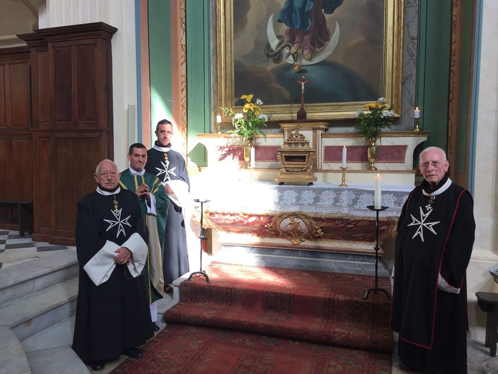 Ce matin à la fin de la messe, dans l'église de La Madeleine