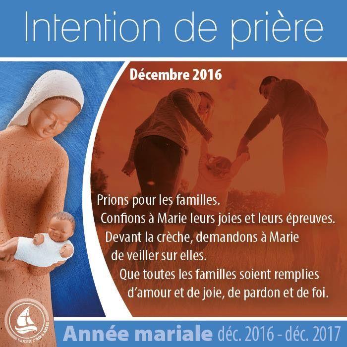 Voici l'intention de prière pour ce premier mois de l'année mariale. Belle fête du 8 décembre !