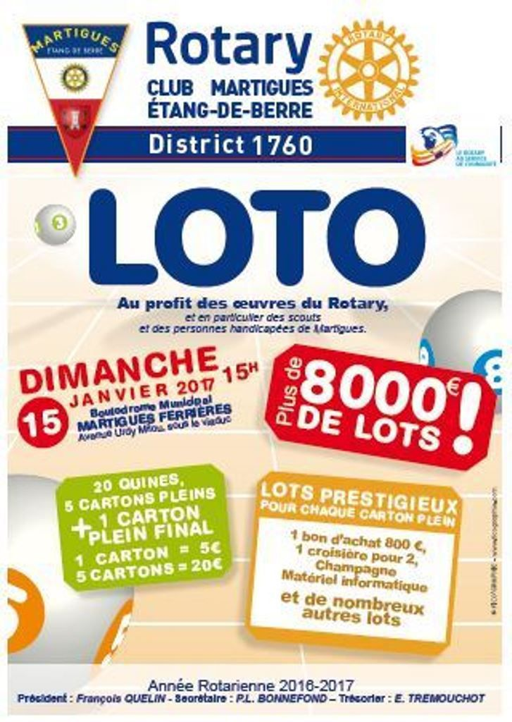 le loto du rotary au profit des personnes handicap es paroisse de martigues. Black Bedroom Furniture Sets. Home Design Ideas