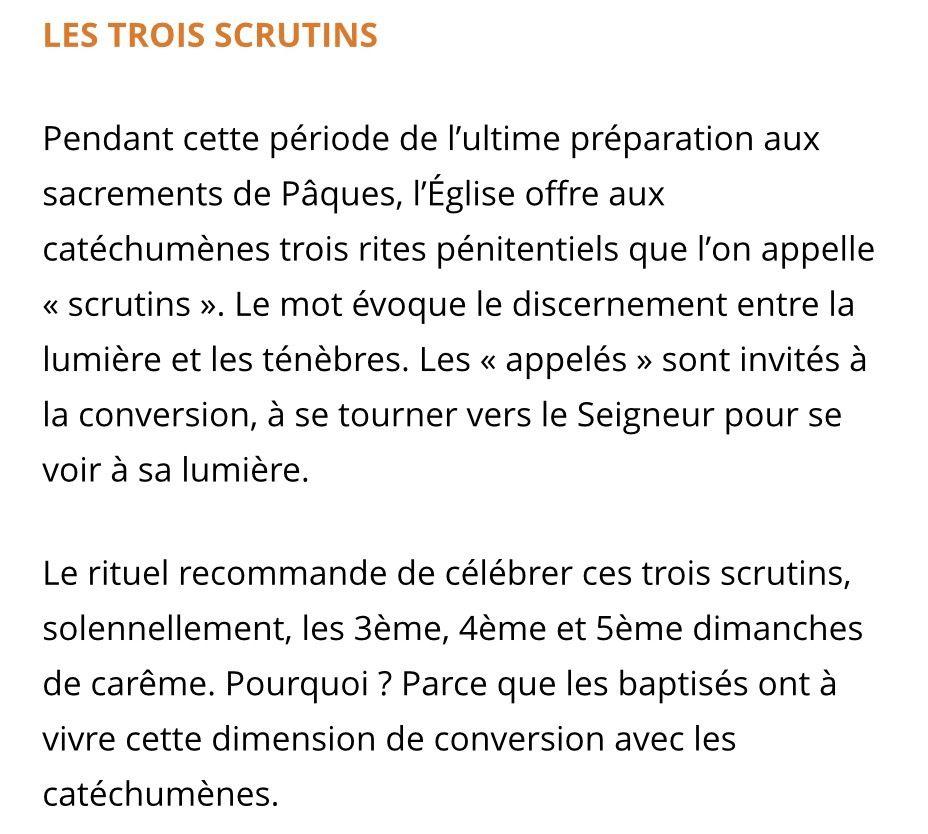 PREMIER SCRUTIN POUR LES CATECHUMENES DE MARTIGUES DIMANCHE 19 MARS