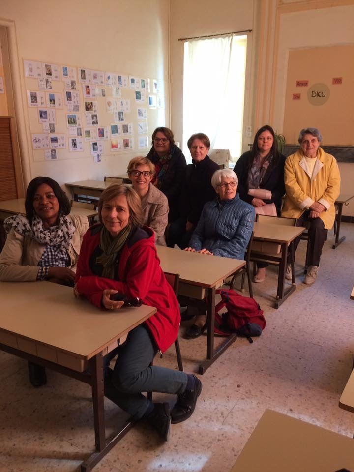 Cette semaine l'aumônerie de l'hôpital est en retraite de carême chez les sœurs de la visitation à Tarascon.