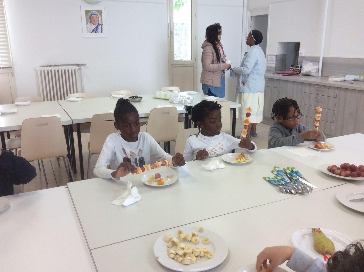 Les enfants de 6 à 12 ans étaient accueillis à la Maison Saint François.