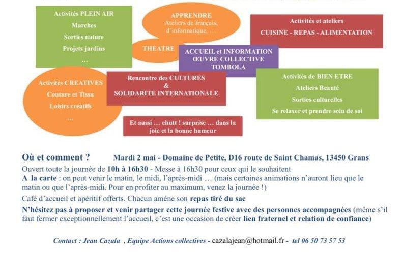 Mardi 2 mai, domaine de Petite à Grans, de 10h à 16h30