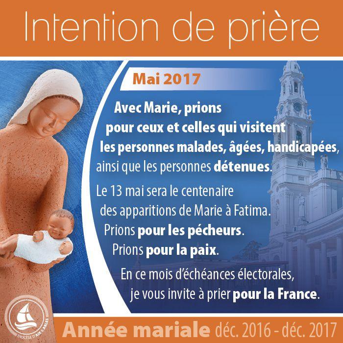 ANNEE MARIALE : INTENTIONS DE PRIERE POUR LE MOIS DE MAI