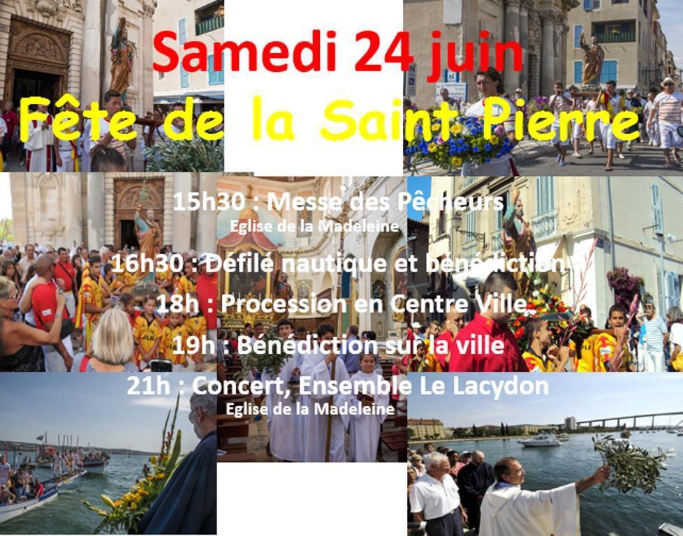 Samedi 24 juin : messe, défilé nautique, procession, prière sur la ville, concert.