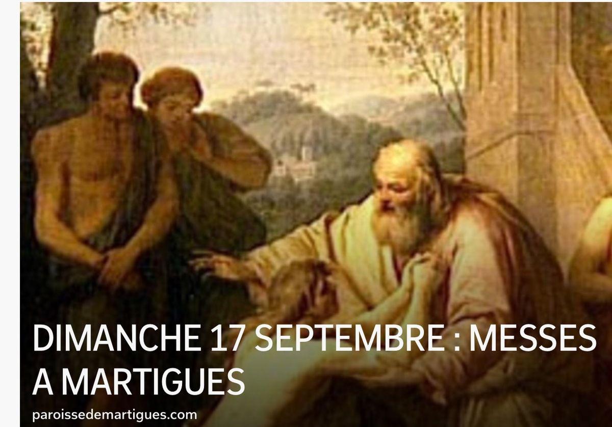 DIMANCHE 17 SEPTEMBRE : MESSES A MARTIGUES