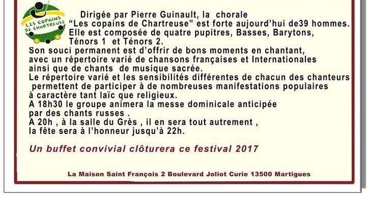 Samedi 7 octobre à 20h, salle du Grès : La chorale ´Les copains de Chartreuse'