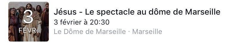 'JÉSUS, LE SPECTACLE' À MARSEILLE