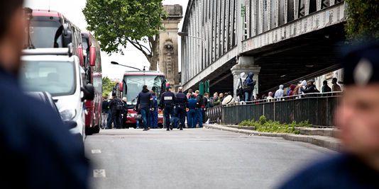 Evacuation du campement de La Chapelle, mardi 2 juin 2015