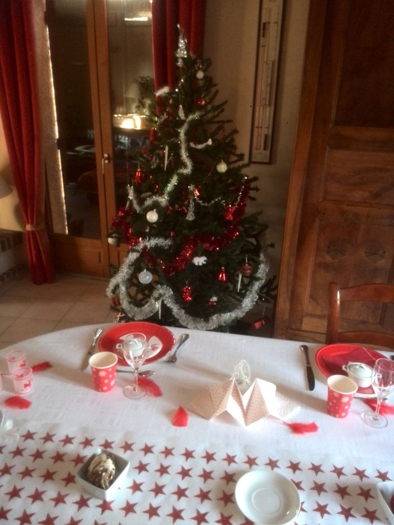 Table de no l en rouge et blanc le blog de corinnette for Table noel rouge et blanc