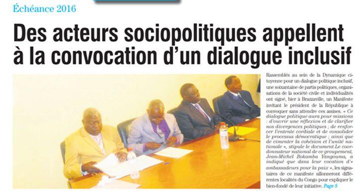 LE DIALOGUE INCLUSIF QUE LES TRAITRES ET CORROMPUS VEULENT ORGANISER NE CONCERNE PAS LE PEUPLE CONGOLAIS