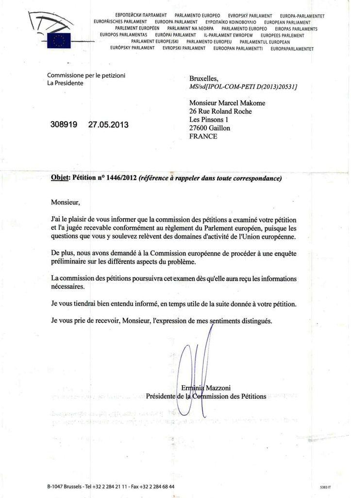PARTI LIBERAL CONGOLAIS : LA REQUETE DE MARCEL MAKOME VISANT A SUSPENDRE L'AIDE DE L'UNION EUROPEENNE A SASSOU JUGEE RECEVABLE