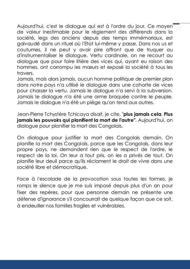 CADD/BRAZZAVILLE : LE DISCOURS D'ANDRE OKOMBI SALISSA