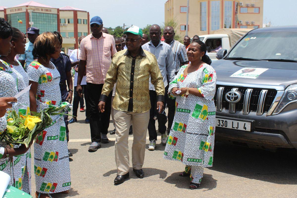 Photos de la campagne électorale de Pascal Tsaty Mabiala dans la Cuvette-Ouest et la Sangha