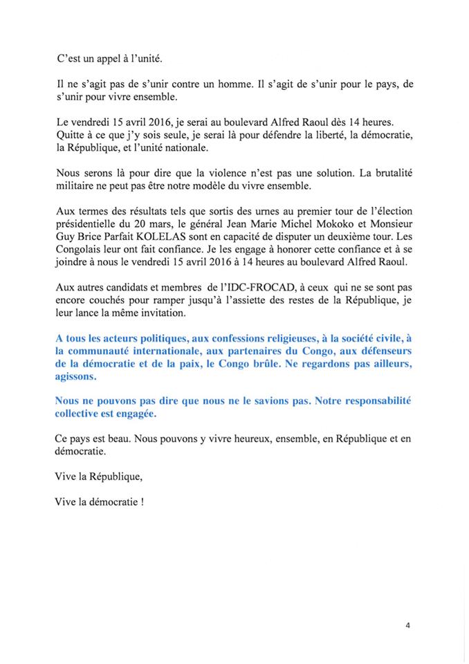 MUST/CLAUDINE MUNARI : APPEL AU RASSEMBLEMENT, CE 15 AVRIL 2016 AU BD ALFRED RAOUL