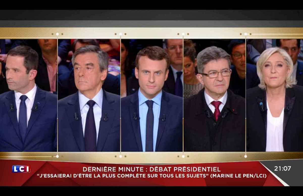 Remarquez que ce montage place Emmanuel Macron au milieu. Est-ce la raison pour laquelle on n'a choisi que cinq candidats ?