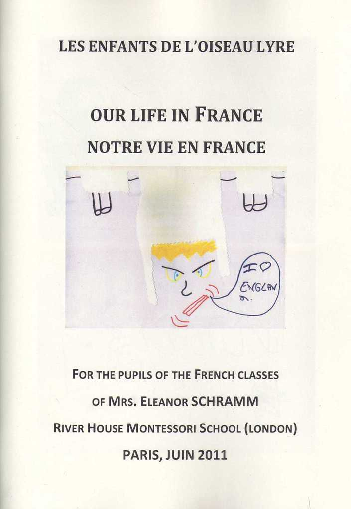 Livre &quot&#x3B;OUR LIFE IN FRANCE&quot&#x3B; 2011