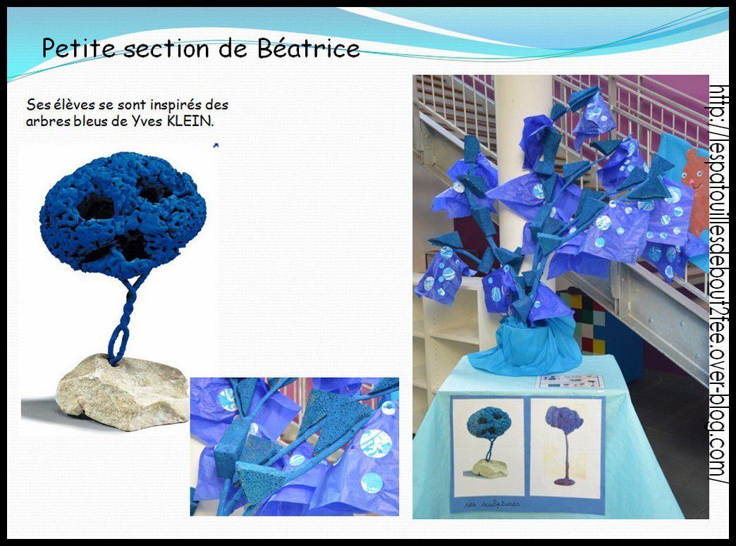 l 39 arbre bleu de yves klein. Black Bedroom Furniture Sets. Home Design Ideas