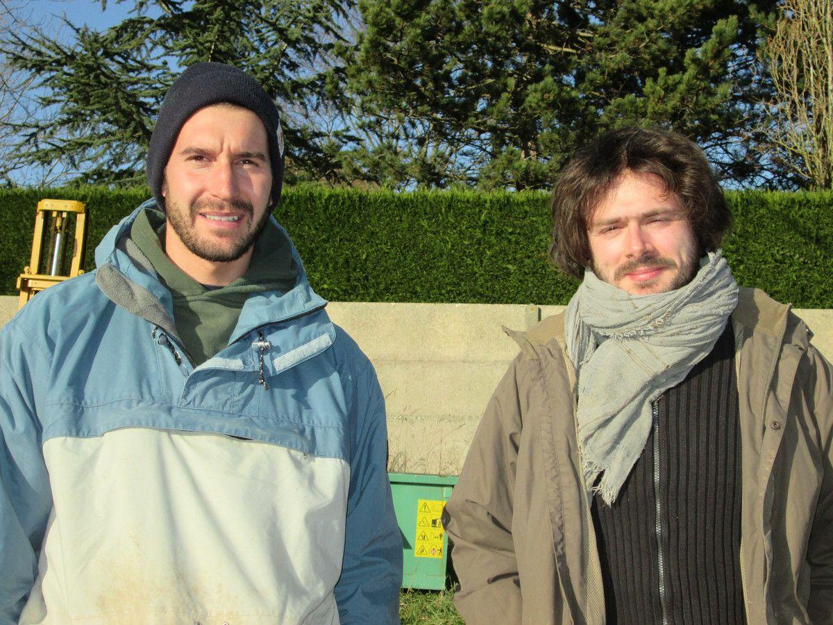 Simon, à gauche, et Hadrien, nouvelle couvée de Biopousses...