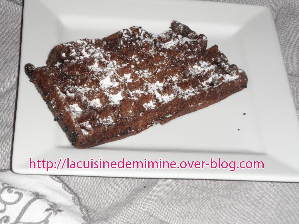 brownies gaufres