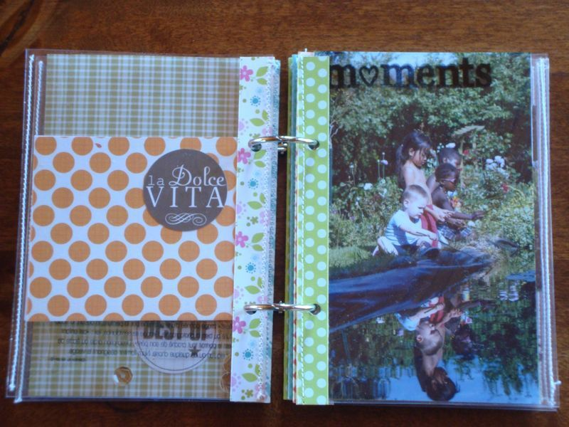 Un mini album pochettes transparentes graine de scrap - Album photo pochette plastique ...