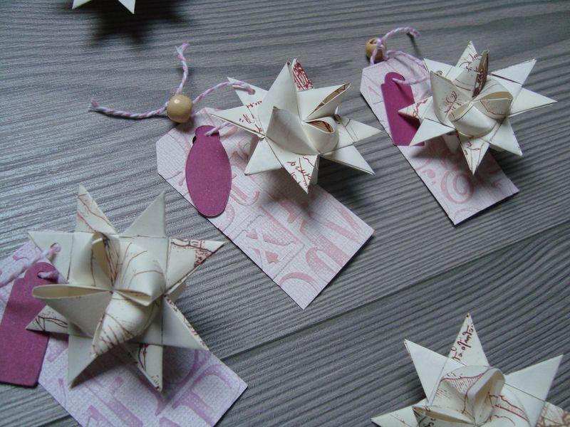 Des étoiles en origami