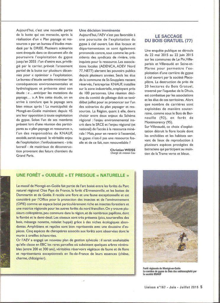 Projet de destruction de la forêt régionale de Montgé en Goële par Knauf : les carriers démolisseurs du nord-ouest 77 ?