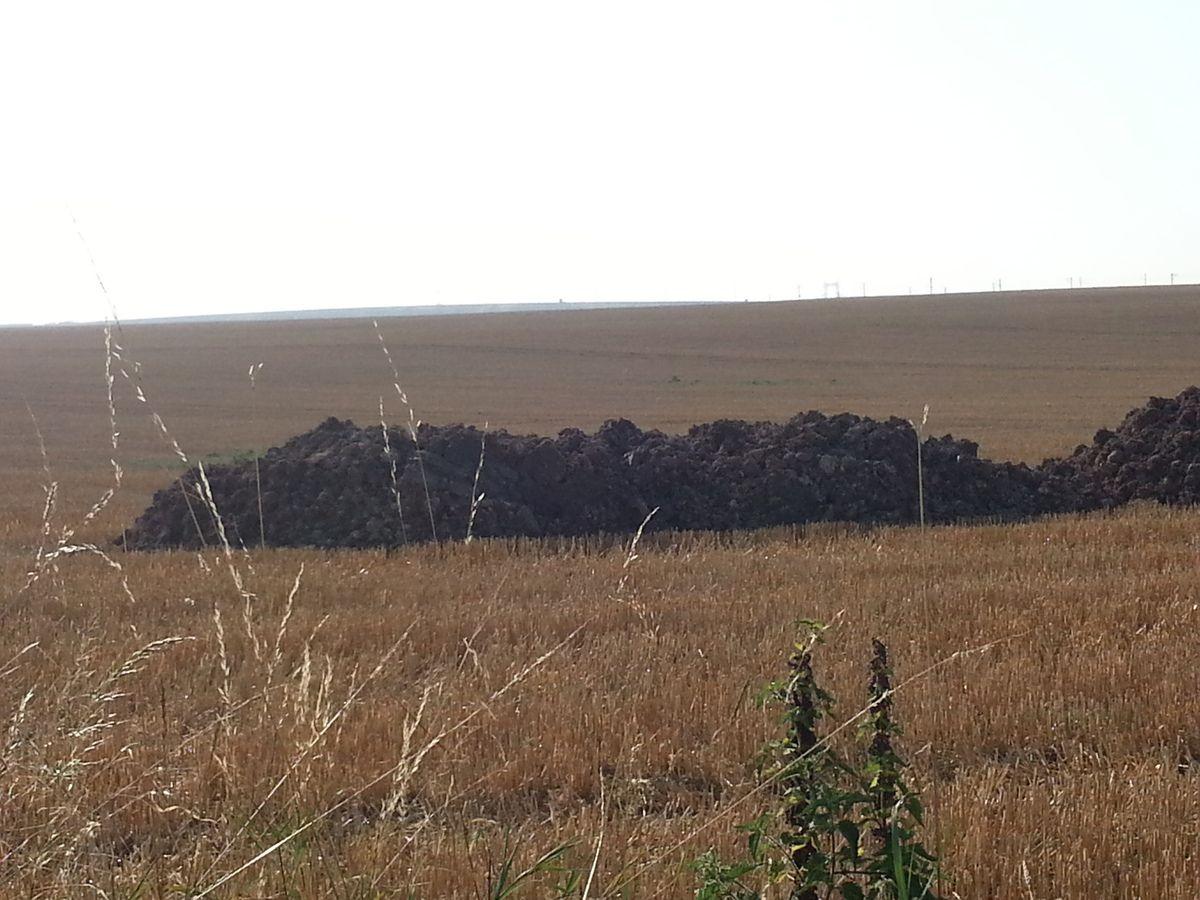 déchets boues sur un espace agricole à Messy 77
