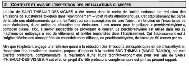 extrait rapport des services de l'ETAT : DRIEE 77 du 22/1/2013