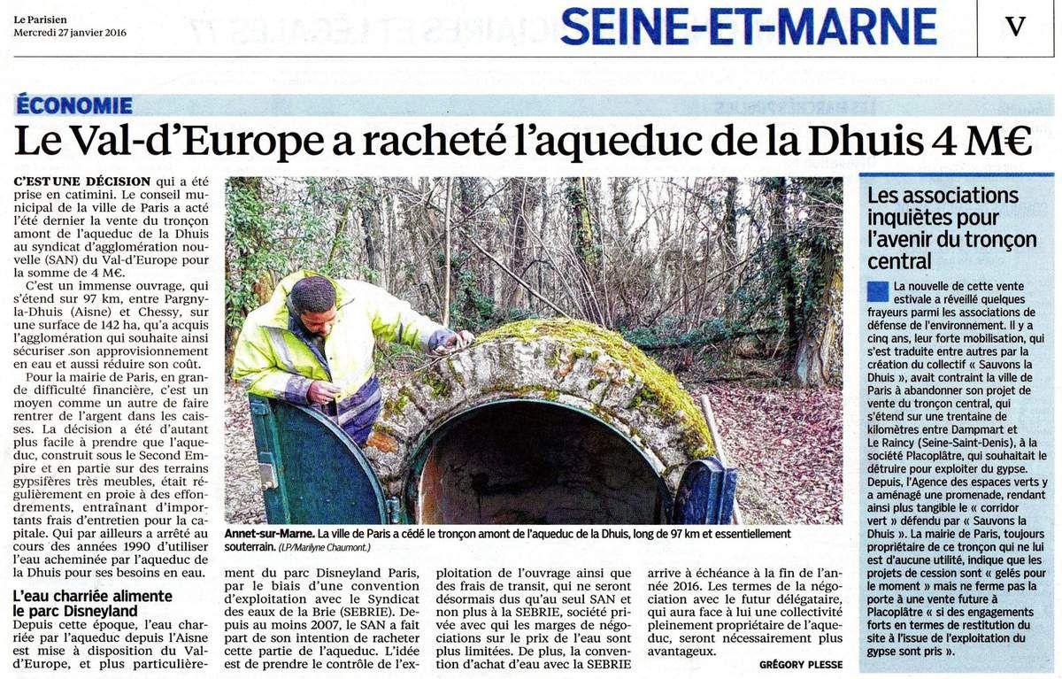 27/1/2016 Le parisien 77