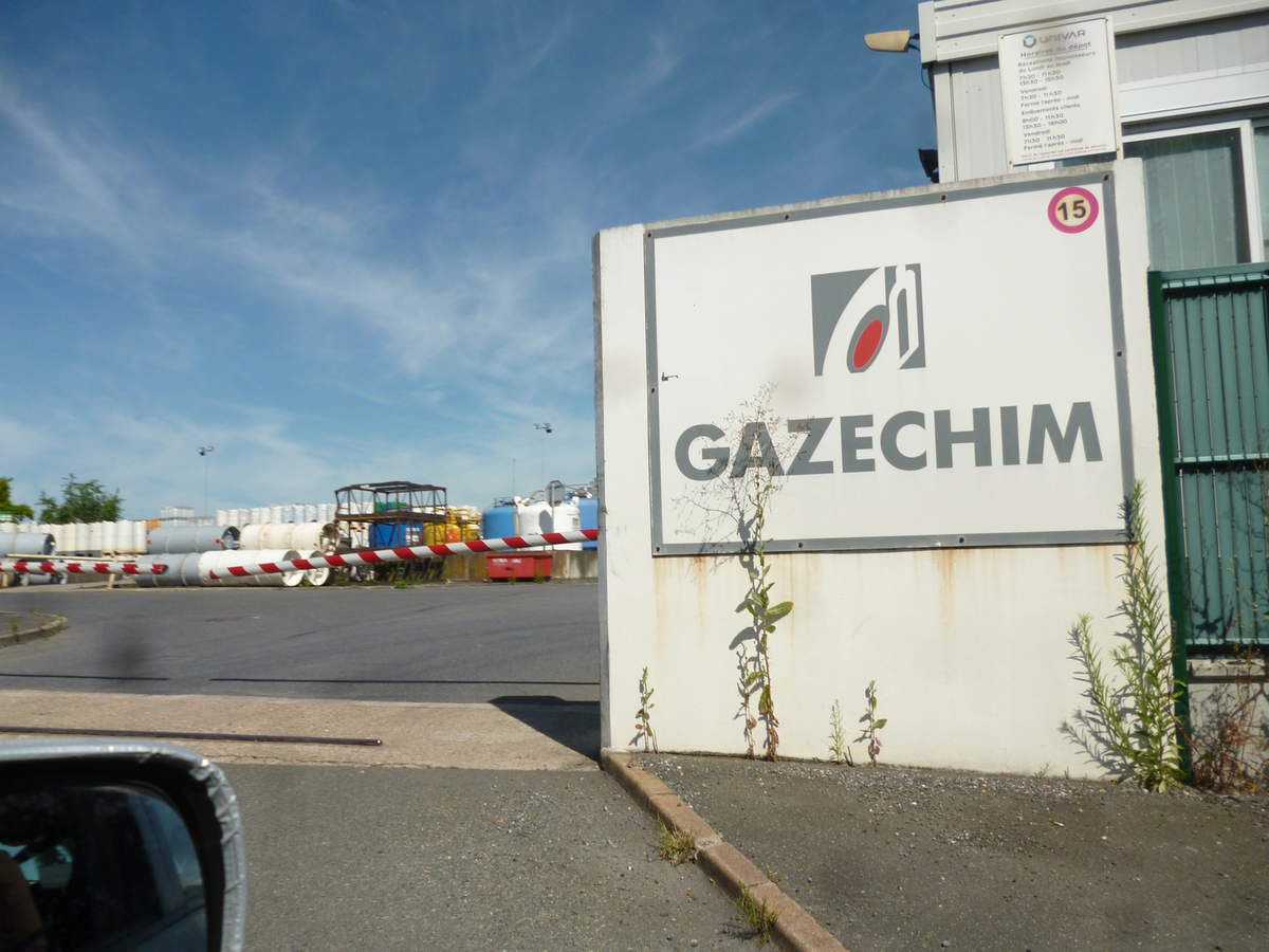 Nord-Ouest 77,  Zone Industrielle Mitry-Compans, Seveso à Hauts Risques : GAZECHIM conditionnement de chlore, ammoniac ….
