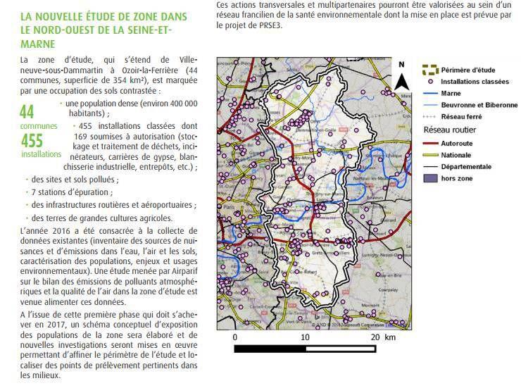 Des nouvelles de l'étude de zone nord-ouest 77