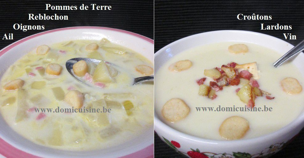 Potage Tartiflette en 2 Versions ...