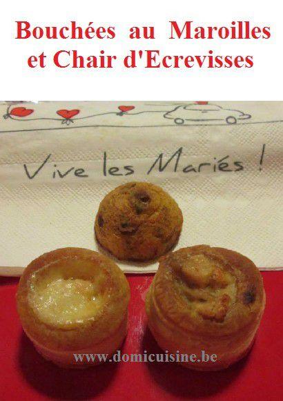 Bouchées au Maroilles et Chair d'Ecrevisses ...