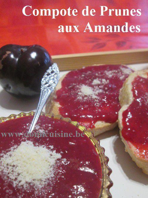 Compote de Prunes à la Cassonade et aux Amandes ...