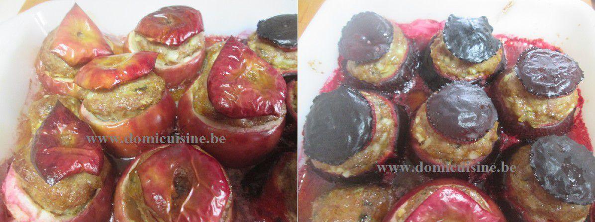 Pommes et Prunes Farcies à la Viande Hachée ...
